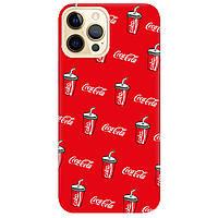 Чохол для Apple iPhone Pro 12 яскраво-червоний матовий soft touch Coca Cola