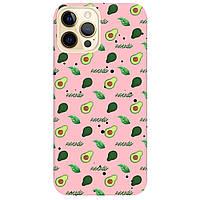 Чохол для Apple iPhone 12 Pro ніжно-рожевий матовий soft touch Avocado