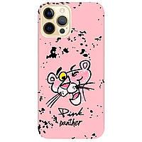 Чохол для Apple iPhone 12 Pro ніжно-рожевий матовий soft touch Pink Panther