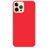 Чохол для Apple iPhone Pro 12 яскраво-червоний матовий soft touch