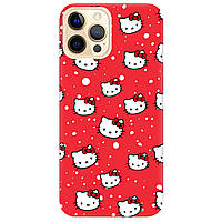 Чохол для Apple iPhone Pro 12 яскраво-червоний матовий soft touch Hello Kitty