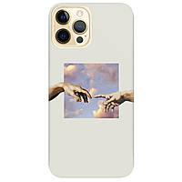 Чохол для Apple iPhone 12 Pro напівпрозорий матовий soft touch Hands