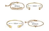 Набор женских золотистых браслетов код 2069, фото 2