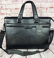 Деловая Мужская сумка-портфель Polo под формат А4. Сумка для документов. КС61
