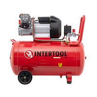 Компрессор 100 л, 2 цилиндра INTERTOOL PT-0008