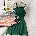 Женский сарафан, трикотаж - рубчик, р-р 42-44; 44-46 (зелёный), фото 2