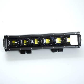 Фара-LED Балка 350*70*75mm 60W (10W*6) 10-30V Ближній/Лінза/Black Line/6D Серія (1шт) 4067