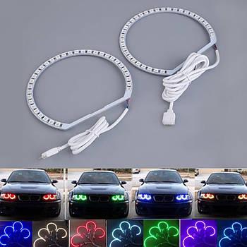 DRL кольца  RGB  тип BMW  2шт d=131мм / 2шт d=146мм LED (С BLUETOOTH) (4шт)  3640