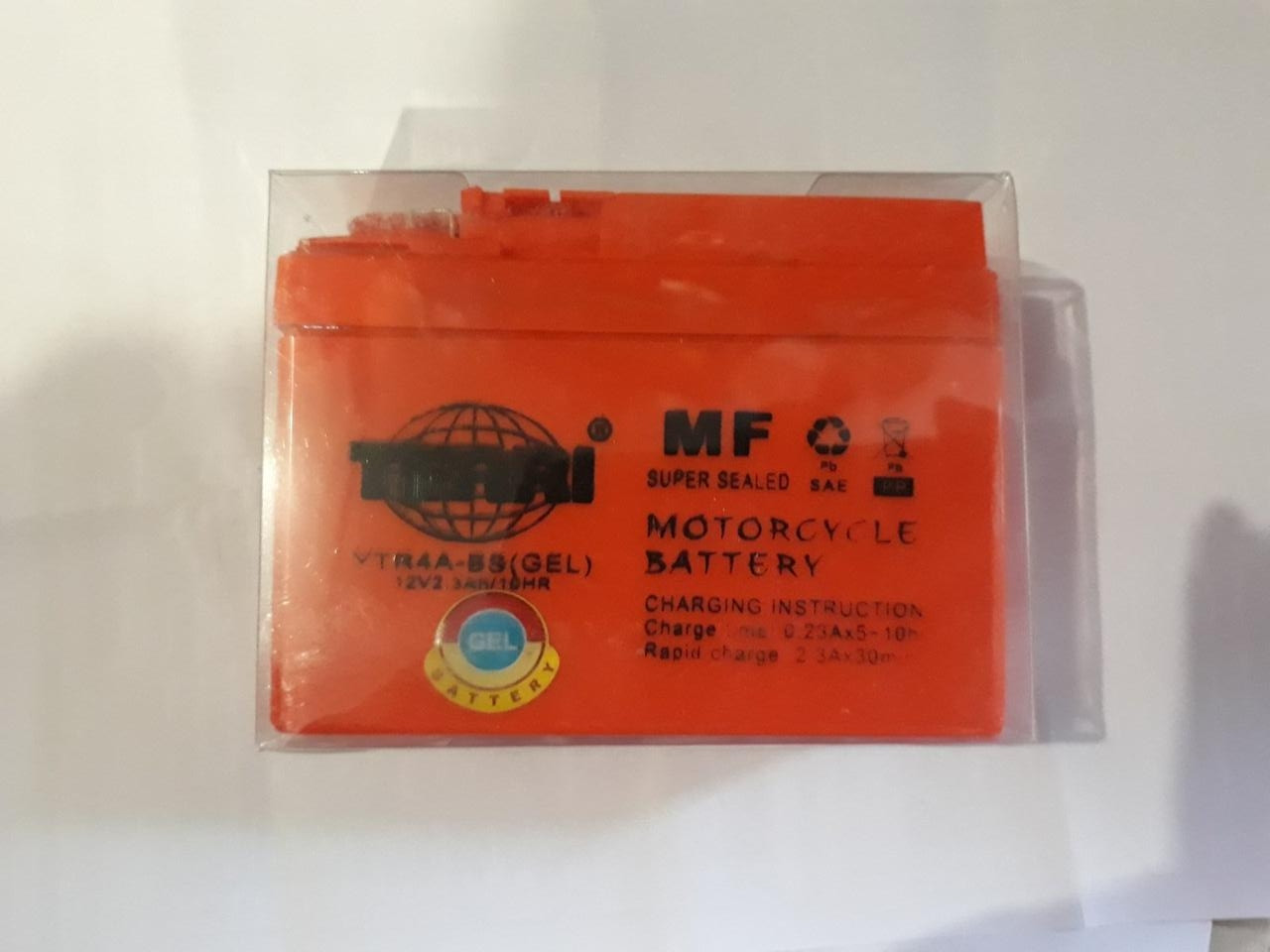 Акумулятор 12V 2/3 A 113-49-85 мм для скутера Honda Dio AF 18 (гелевий)