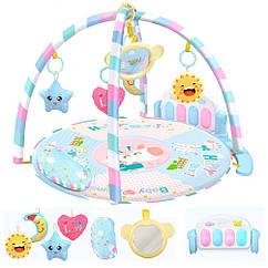 Развивающий игровой коврик для младенца 0229Y Голубой