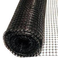 Сетка вольерная чёрная 1,5м х 100м (Испания), ячейка 15х22мм