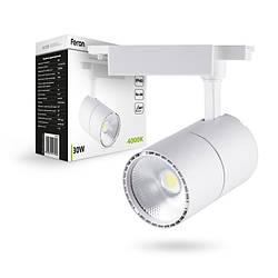 Трековый светильник Feron AL103 30W белый угол рассеивания 60