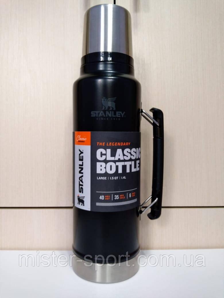 Лот №30, Термос STANLEY Classic Legendary 1.4 литра черный, состояние (5-) по пятибалльной шкале