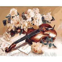 КНО5500 Мелодия скрипки. Идейка. Набор для рисования картины по номерам