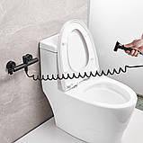 Гігієнічний душ для унітазу латунний WanFan змішувач для біде настінний зі шлангом Чорний, фото 2