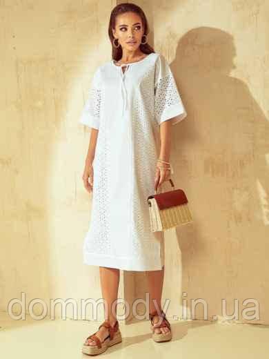 Платье женское из прошвы с разрезами по бокам