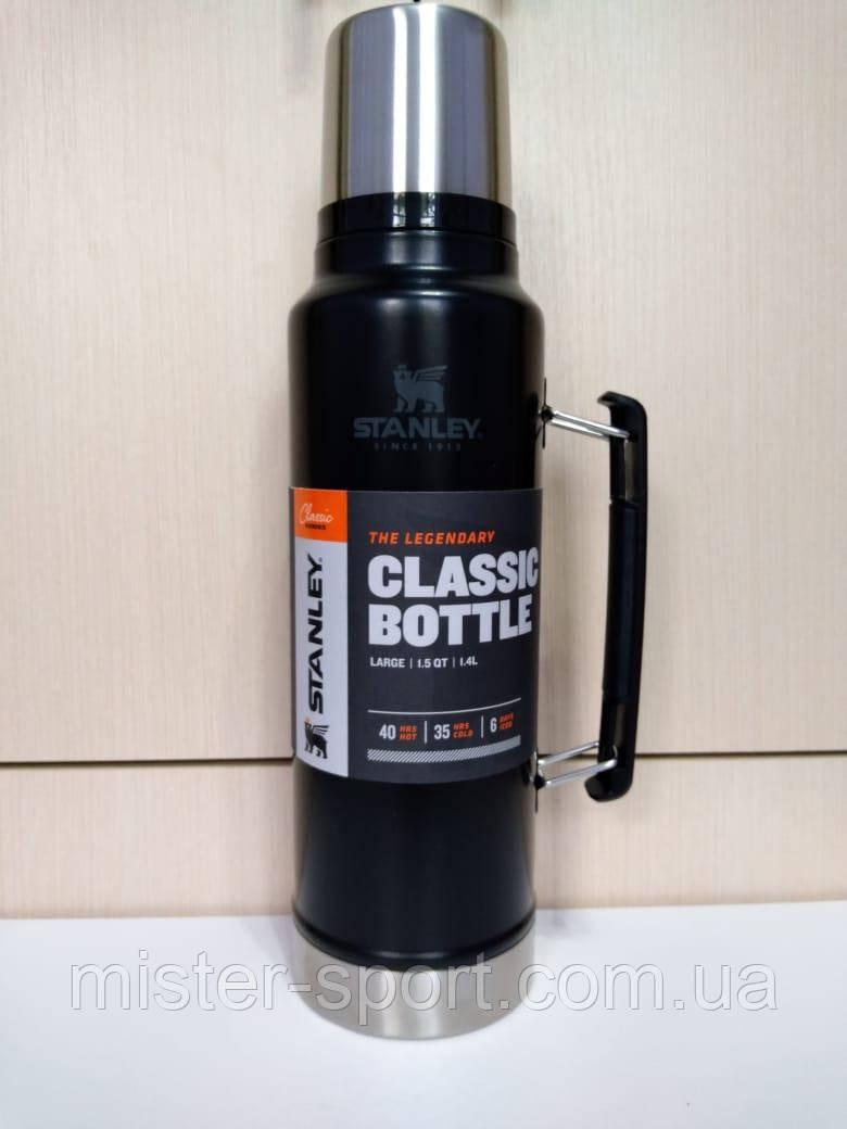 Лот №33, Термос STANLEY Classic Legendary 1.4 литра черный, состояние (5-) по пятибалльной шкале