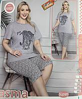 Женская пижама футболка- бриджи Турция