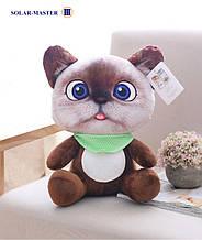 Котик плюшевый, мягкая игрушка 3D, с присоской
