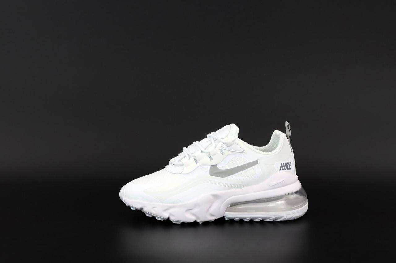 Женские кроссовки Nike Air Max 270 React White (Кроссовки Найк Аир Макс 270 Реакт белые весна/лето)