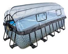 Бассейн EXIT прямоугольный с куполом 540х250х122 см с песочным фильтром + тепловой насос