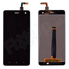 Дисплей Xiaomi Mi4 з тачскріном в зборі, колір чорний