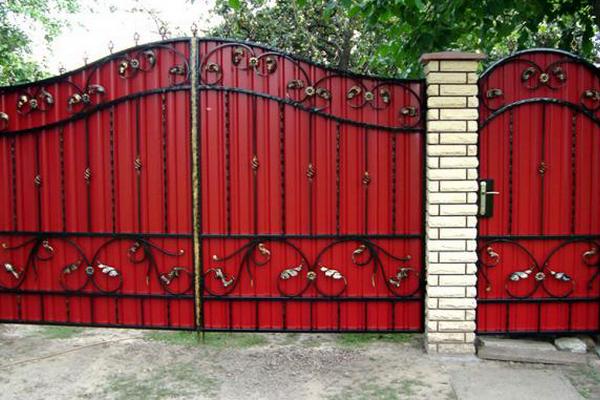 Виды кованных ворот