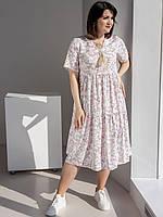 Женское платье-миди из штапеля
