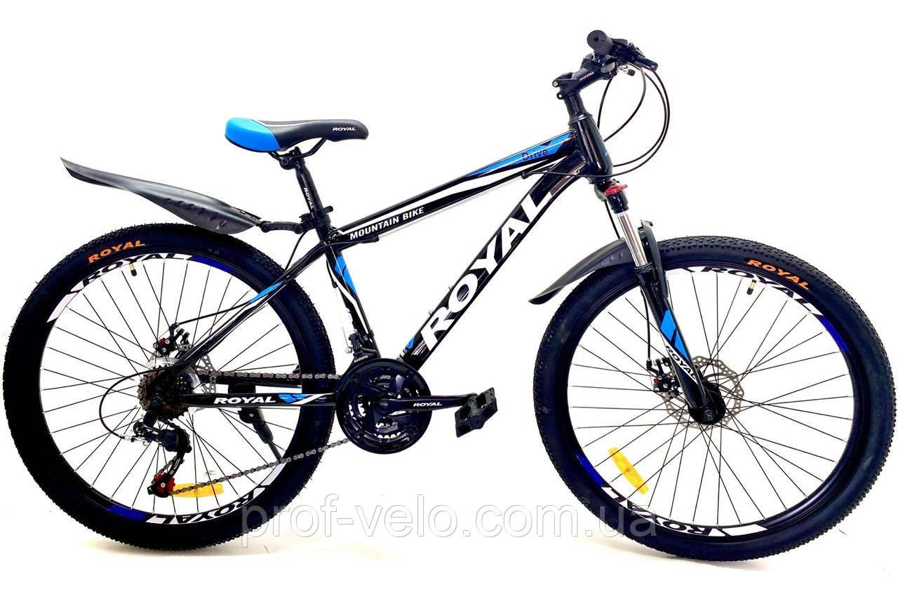 Велосипед спортивный Royal 27.5 DRIVE чёрно-синий