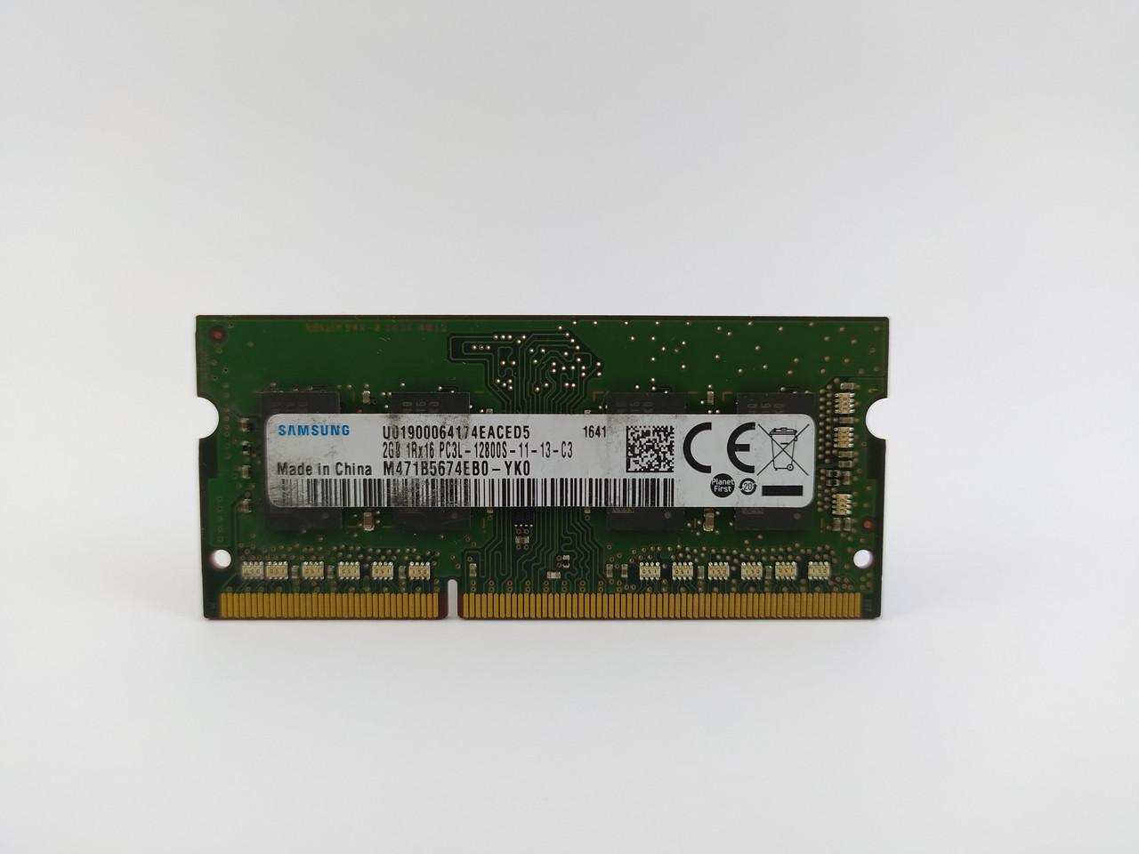 Оперативная память для ноутбука SODIMM Samsung DDR3L 2Gb 1600MHz PC3L-12800S (M471B5674EB0-YK0) Б/У