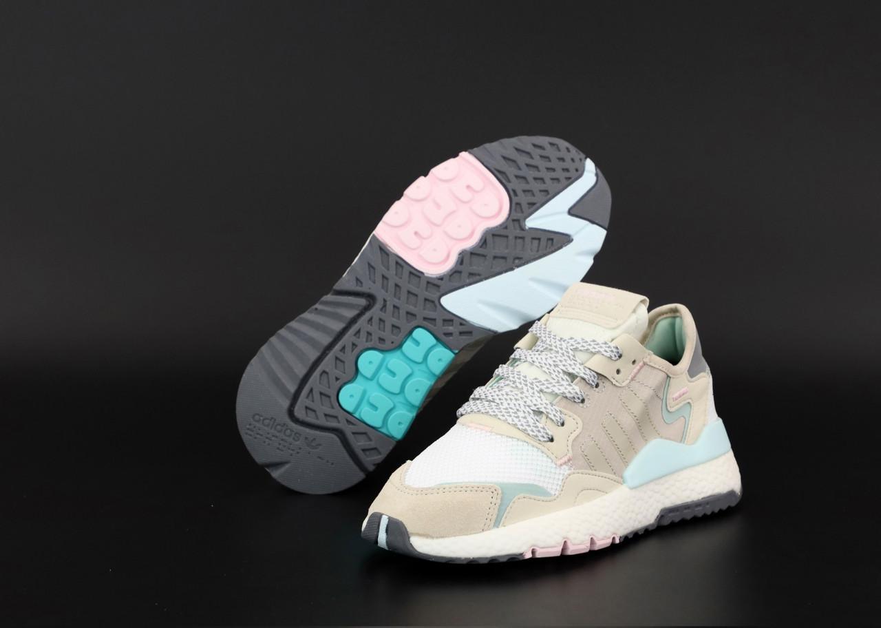 Жіночі сірі Кросівки Adidas Nite Jogger