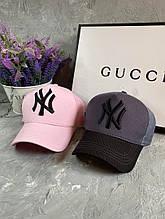 Женская кепка бейсболка с сеткой с логотипом в расцветках