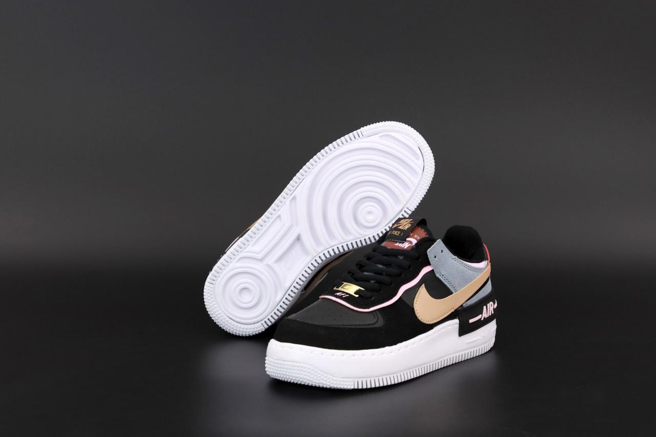 Женские черные Кроссовки Nike Air Force Shadow
