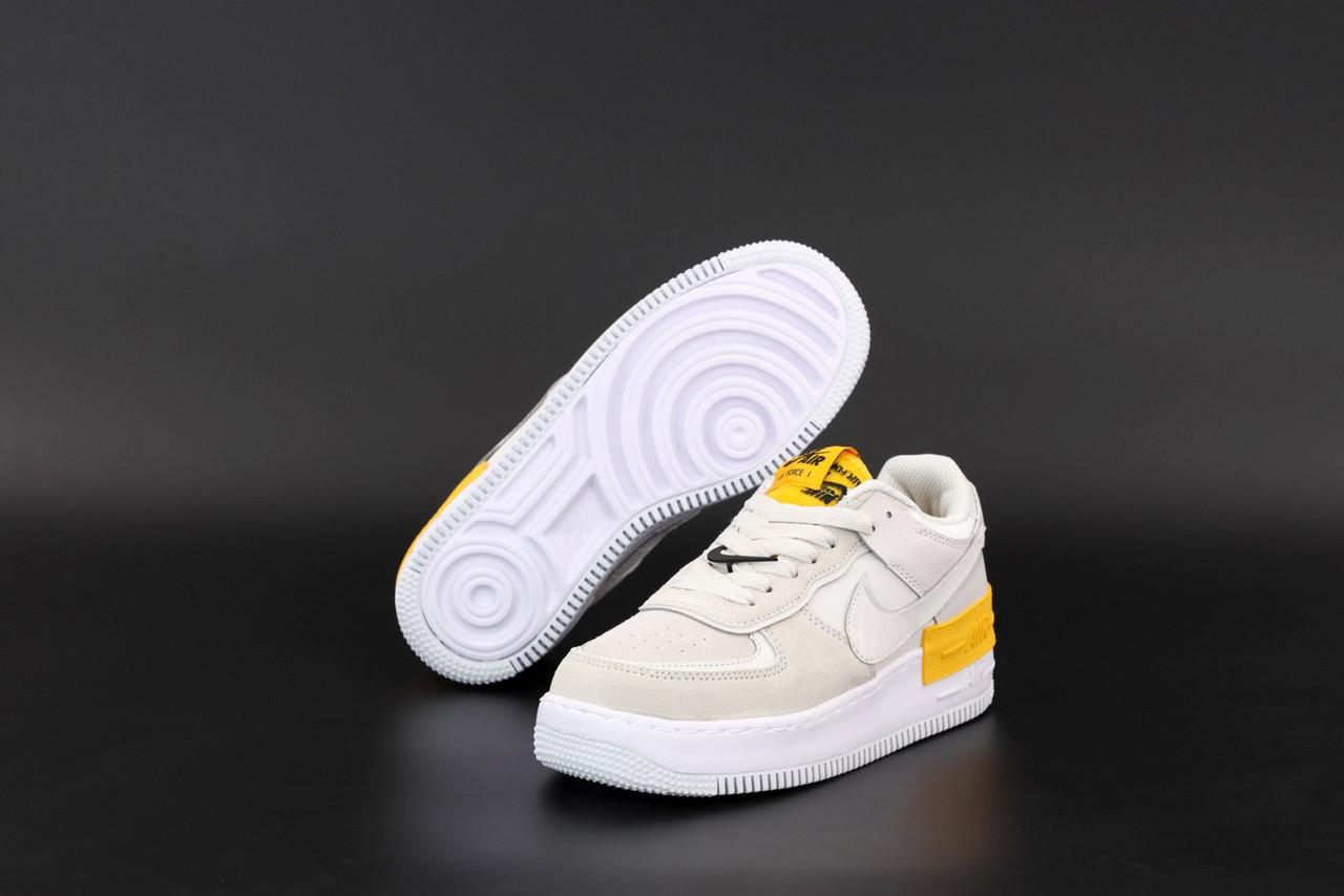 Жіночі сірі Кросівки Nike Air Force Shadow