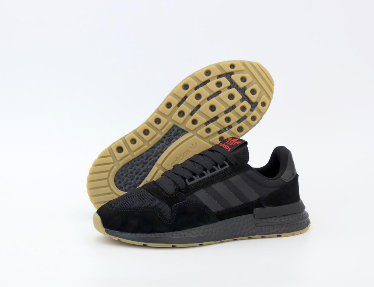 Мужские черные Кроссовки Adidas ZX Flux 500