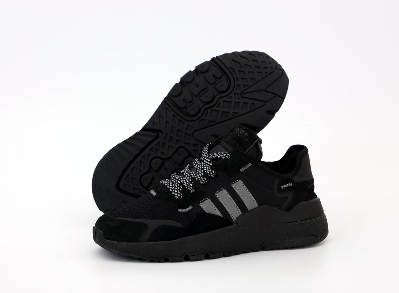 Мужские черные Кроссовки Adidas Nite Jogger