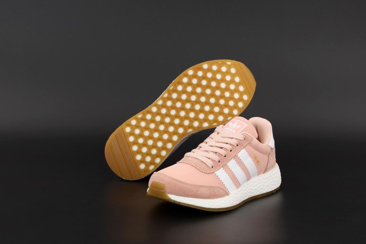 Женские розовые Кроссовки Adidas Iniki
