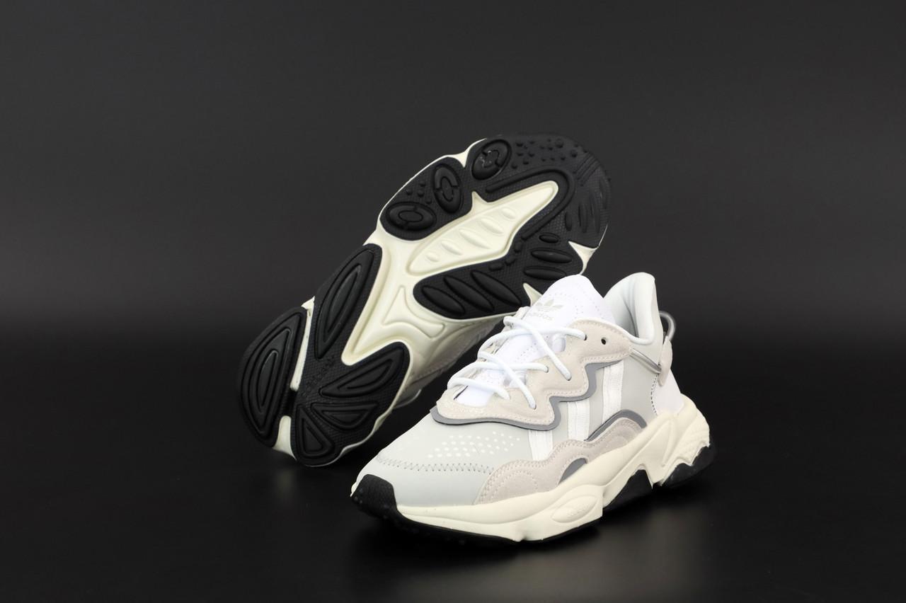 Сірі жіночі Кросівки Adidas Ozweego