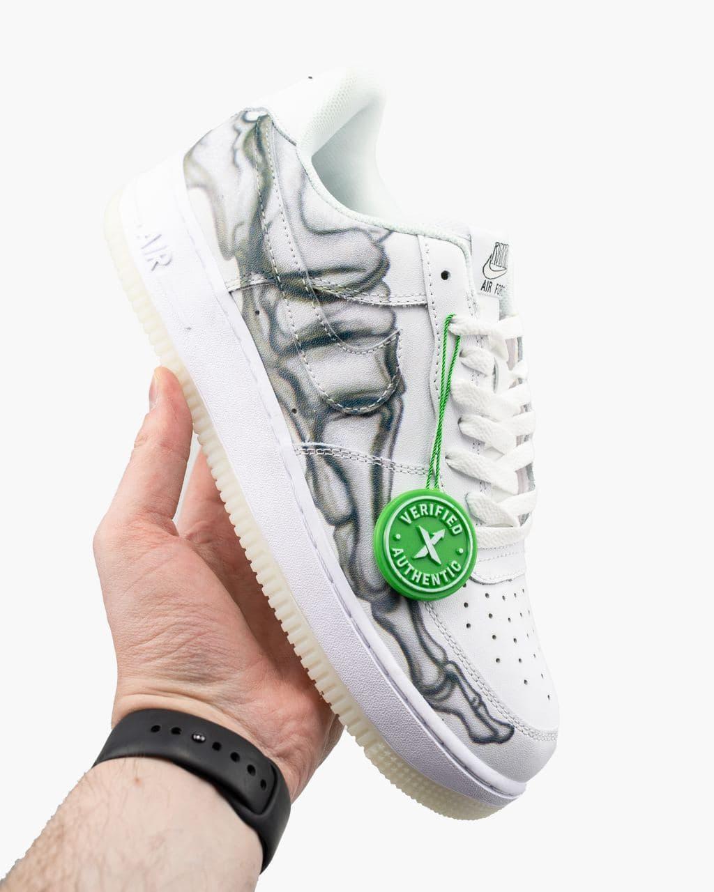 Мужские белые Кроссовки Nike Air Force 1 Skeleton