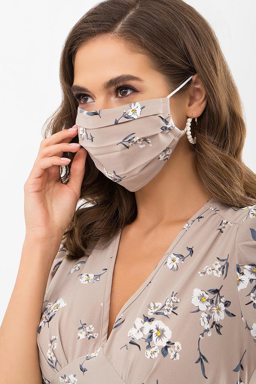 Защитная двухслойная маска многоразового использования