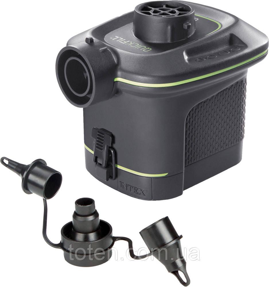 Насос электрический от батареек или аккум. Мощность 420 л/мин . 3 универ. насадки Intex 66638 Т