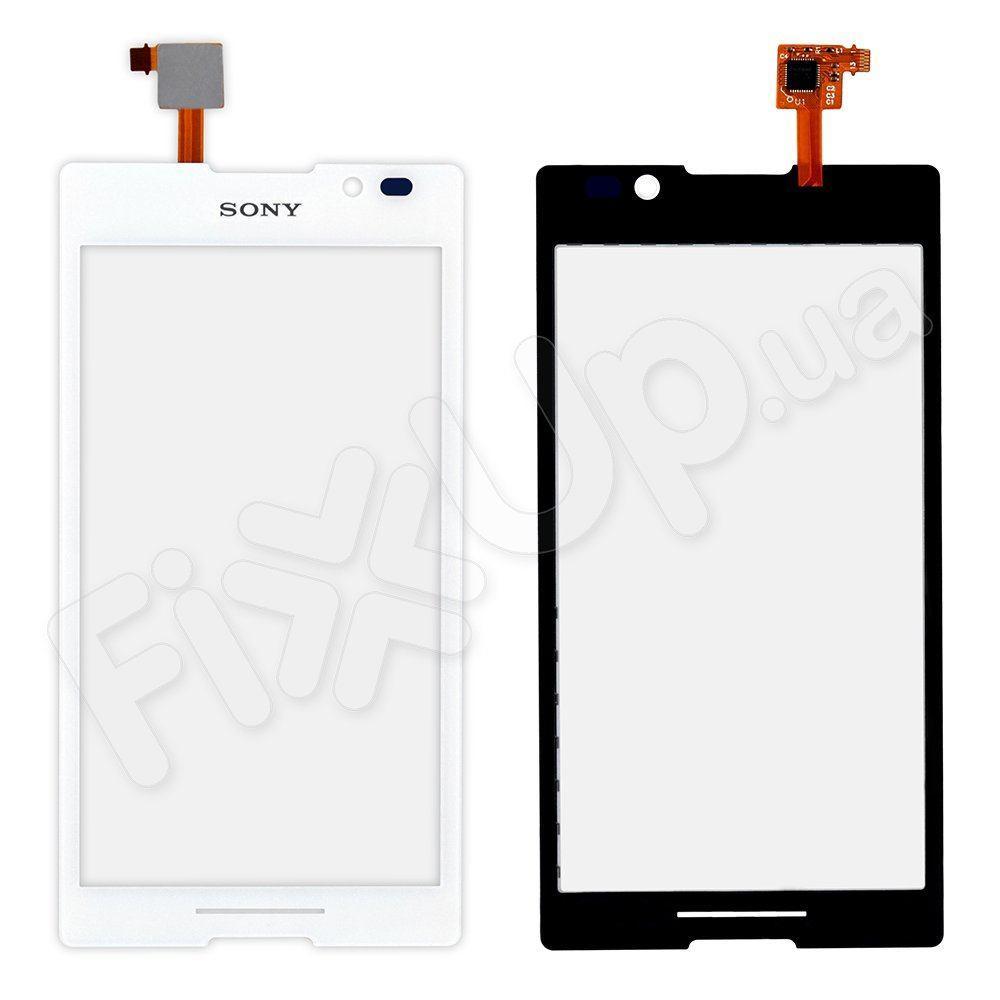 Тачскрін Sony C2305 (S39h) Xperia C, колір білий, копія високої якості
