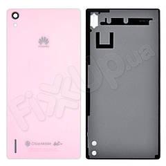 Задня кришка Huawei Ascend P7, колір рожевий