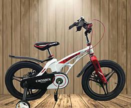 """Велосипед дитячий полегшений Crosser MAGNESIUM BIKE PREMIUM 18"""" White"""