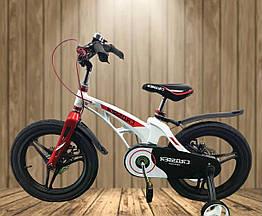"""Велосипед дитячий полегшений Crosser MAGNESIUM BIKE PREMIUM 16"""" White"""
