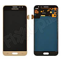 Дисплей для Samsung J320H/DS Galaxy J3 (2016) с тачскрином в сборе, цвет золотой, TFT c регулировкой яркости