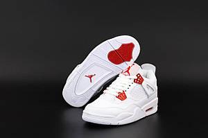 Женские баскетбольные кроссовки Nike Air Jordan 4 Retro White (Высокие кроссовки Найк Аир Джордан Ретро белые)