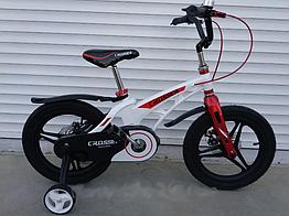 """Велосипед дитячий полегшений Crosser MAGNESIUM BIKE PREMIUM 14"""" White"""