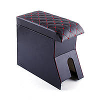 Підлокітник Daewoo Lanos Luxe (без логотипу, чорний, прошитий червоною ниткою)