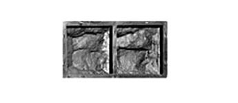 Форма для производства  фасадной плитки «Рваный Камень №6»